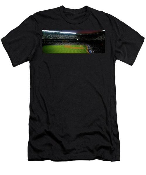 Interiors Of A Stadium, Yankee Stadium Men's T-Shirt (Slim Fit)