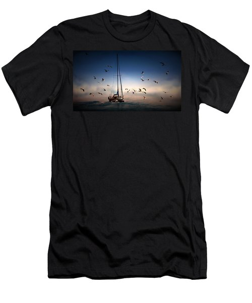 Into The Blue Men's T-Shirt (Slim Fit) by Davandra Cribbie