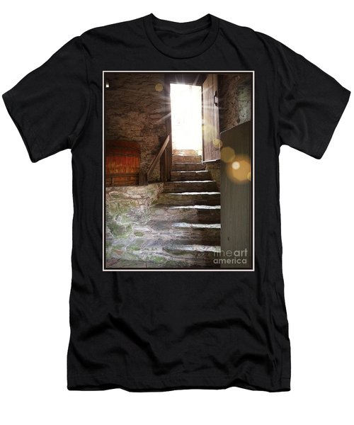 Men's T-Shirt (Slim Fit) featuring the photograph Into The Light - The Ephrata Cloisters by Joseph J Stevens