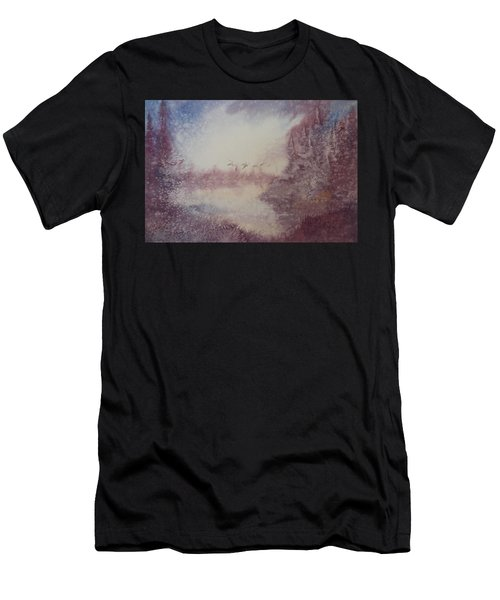 Men's T-Shirt (Slim Fit) featuring the painting Into The Storm by Richard Faulkner