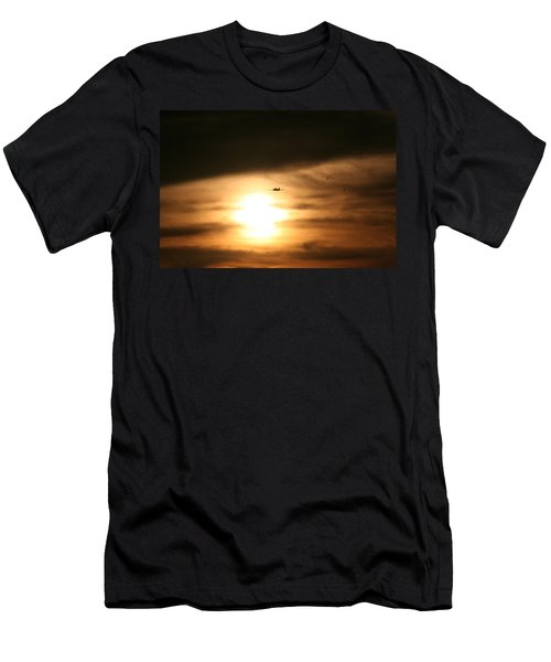 Men's T-Shirt (Slim Fit) featuring the photograph Into The Sun by David S Reynolds