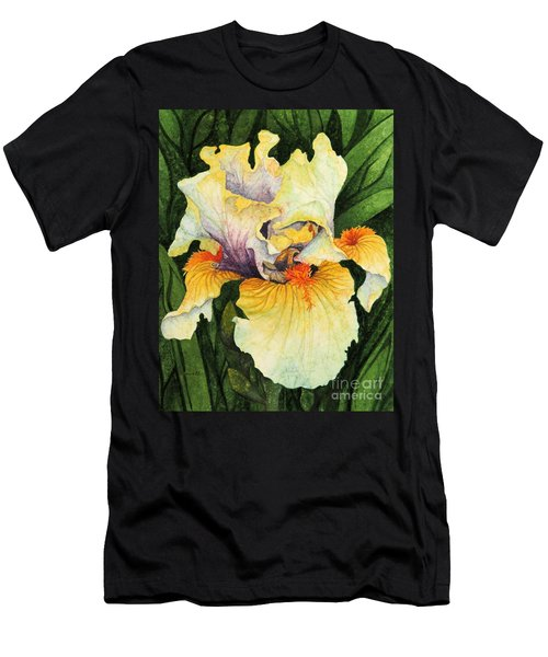 Men's T-Shirt (Slim Fit) featuring the painting Iris Elegance by Barbara Jewell