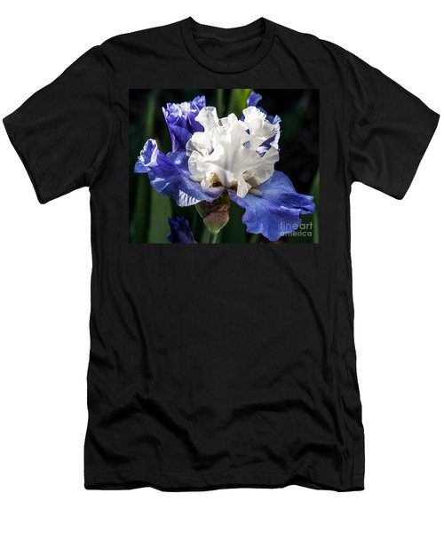 Men's T-Shirt (Slim Fit) featuring the photograph Stairway To Heaven Iris by Roselynne Broussard