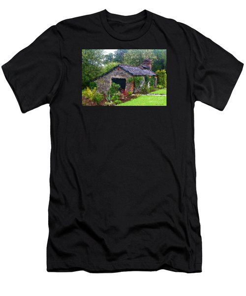 Men's T-Shirt (Athletic Fit) featuring the photograph Irish Cottage by Beauty For God
