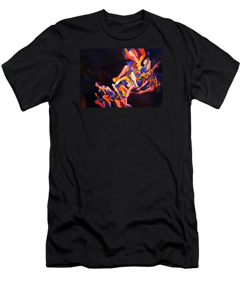 Men's T-Shirt (Slim Fit) featuring the painting Irish Knot by Georg Douglas