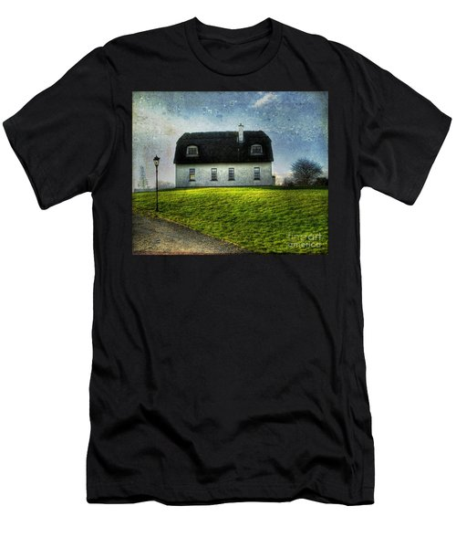 Irish Thatched Roofed Home Men's T-Shirt (Slim Fit) by Juli Scalzi