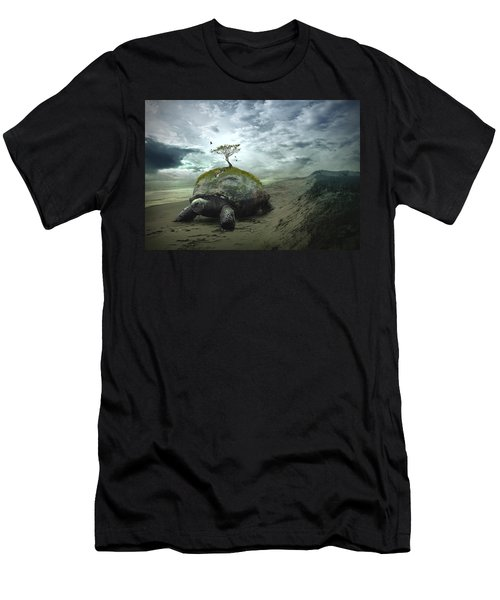 Iroquois Creation Story Men's T-Shirt (Slim Fit) by Rick Mosher