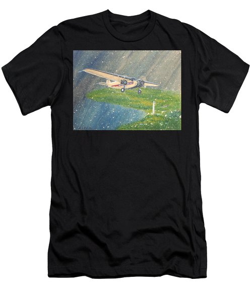 Island Airlines Ford Trimotor Over Put-in-bay In The Winter Men's T-Shirt (Athletic Fit)
