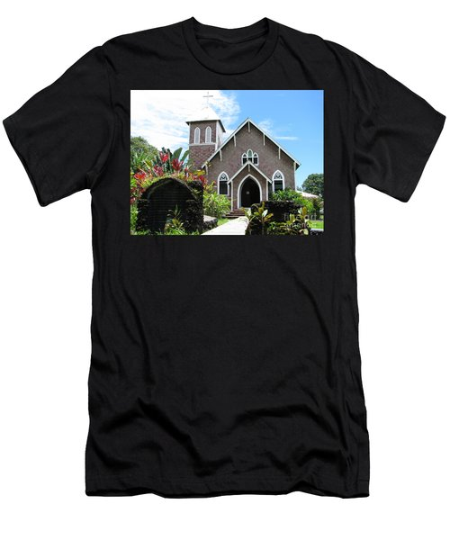 Island Church Men's T-Shirt (Slim Fit) by Michael Krek