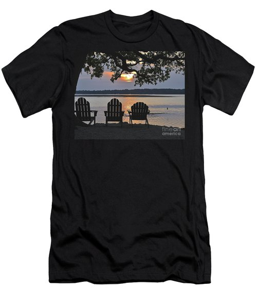 Island Time Men's T-Shirt (Slim Fit) by Carol  Bradley