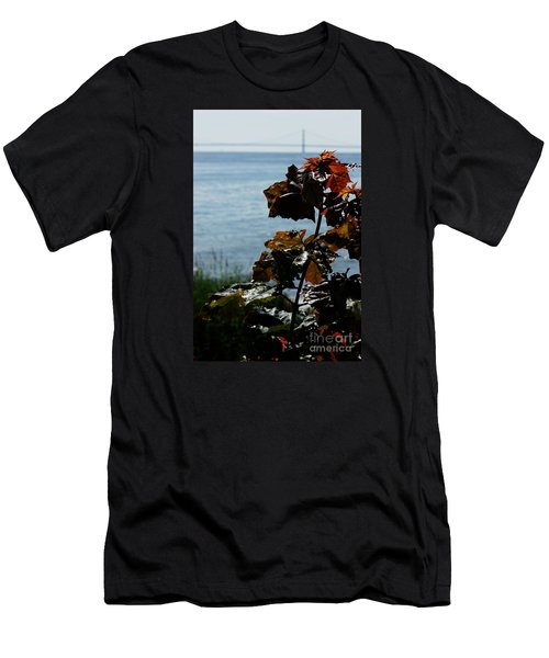 Men's T-Shirt (Athletic Fit) featuring the photograph Island View by Linda Shafer
