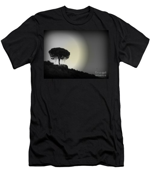 Men's T-Shirt (Slim Fit) featuring the photograph Isolation Tree by Clare Bevan