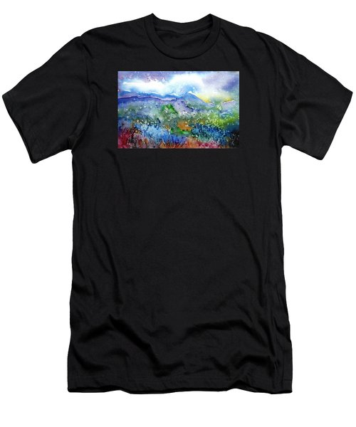 It Sometimes Rains In Tuscany Too  Men's T-Shirt (Athletic Fit)