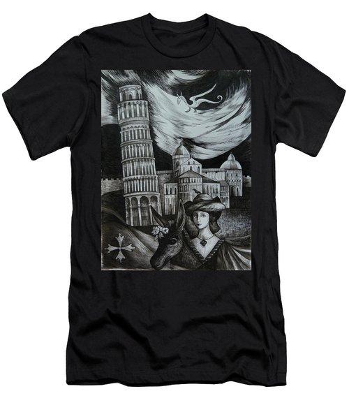 Italian Fantasies. Pisa Men's T-Shirt (Slim Fit) by Anna  Duyunova