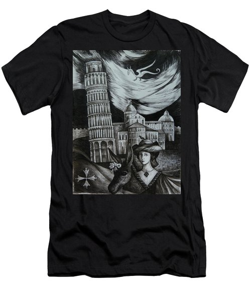 Italian Fantasies. Pisa Men's T-Shirt (Athletic Fit)