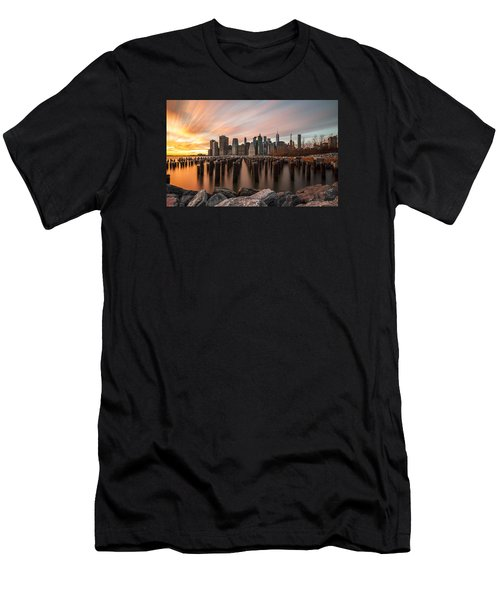 Men's T-Shirt (Slim Fit) featuring the photograph Its A New Year  by Anthony Fields