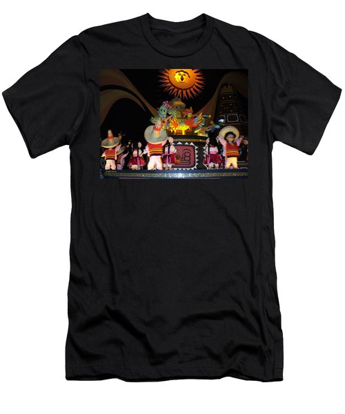 It's A Small World With Dancing Mexican Character Men's T-Shirt (Slim Fit) by Lingfai Leung