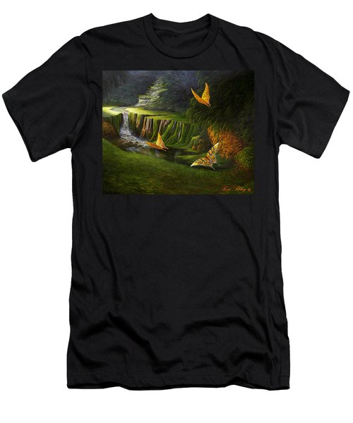 Gods Promise Men's T-Shirt (Slim Fit) by Loxi Sibley