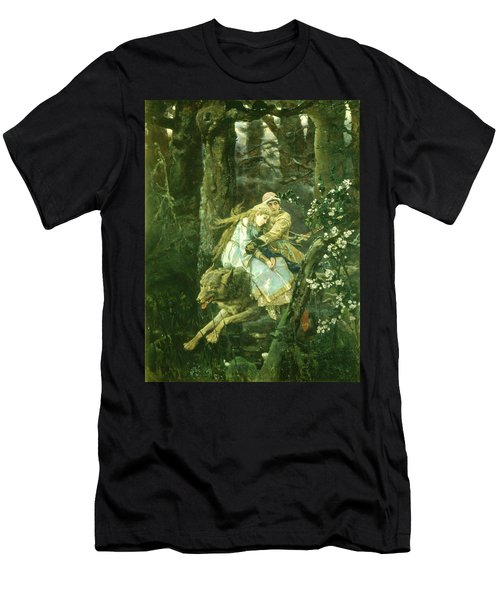 Ivan Tsarevich Riding The Grey Wolf, 1889 Oil On Board Men's T-Shirt (Athletic Fit)