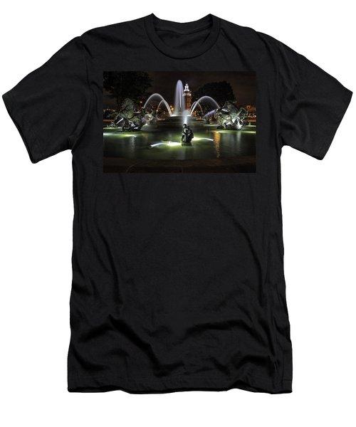 J C Nichols Fountain Men's T-Shirt (Slim Fit) by Lynn Sprowl