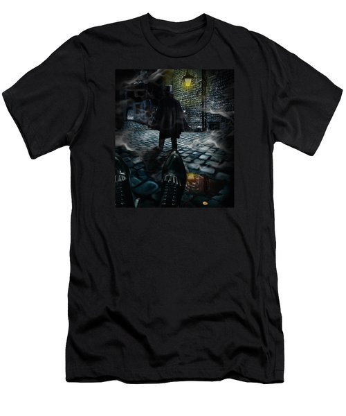 Jack The Ripper Men's T-Shirt (Slim Fit) by Alessandro Della Pietra