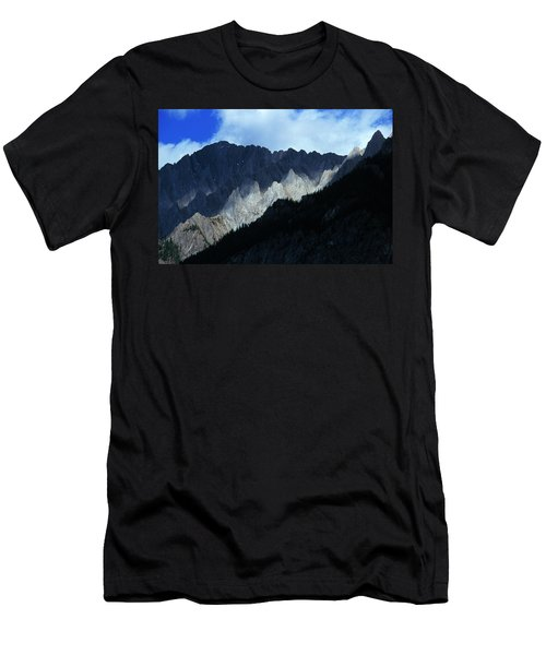 Jagged Mountains Of Banff National Men's T-Shirt (Athletic Fit)