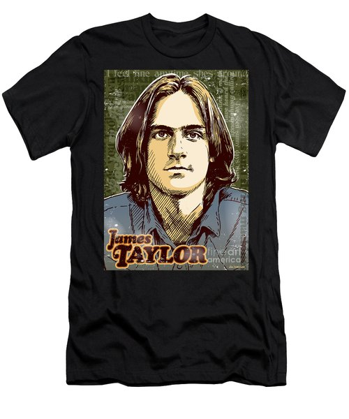 James Taylor Pop Art Men's T-Shirt (Athletic Fit)