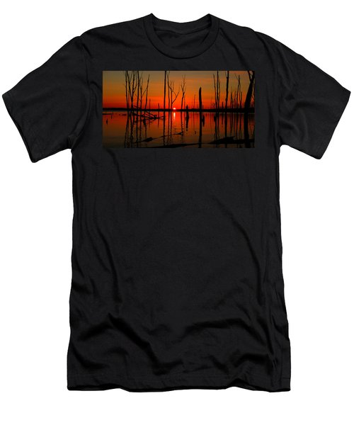 January Sunrise Men's T-Shirt (Slim Fit) by Raymond Salani III