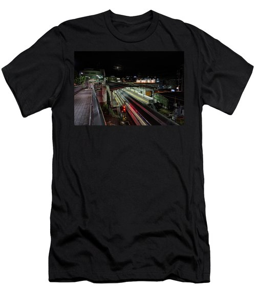 Japan Train Night Men's T-Shirt (Athletic Fit)