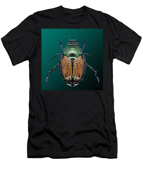 Japanese Beetle Bedazzled II Men's T-Shirt (Athletic Fit)