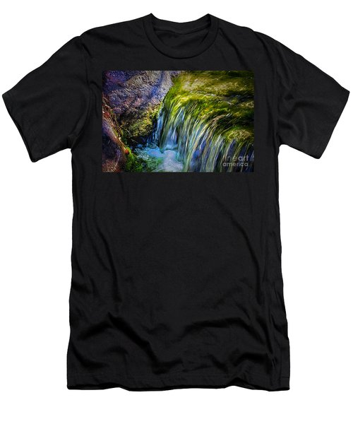 Japanese Garden Waterfall Men's T-Shirt (Athletic Fit)