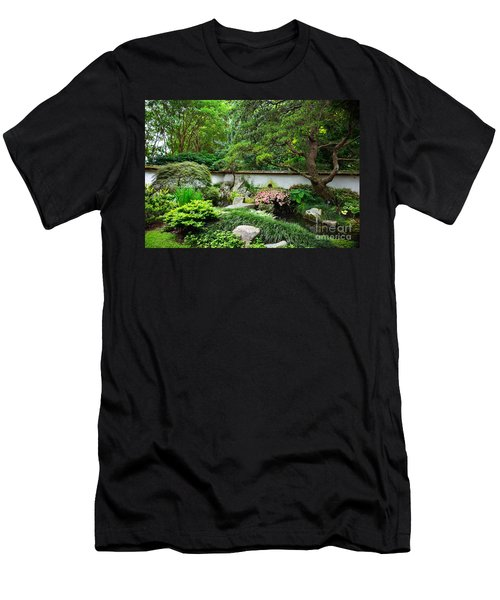 Japanese Gardens Men's T-Shirt (Athletic Fit)