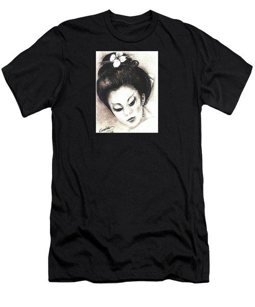 Japanese Girl. Men's T-Shirt (Slim Fit)