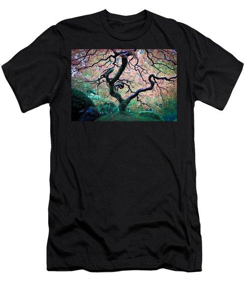 Japanese Maple In Autumn Men's T-Shirt (Slim Fit) by Athena Mckinzie