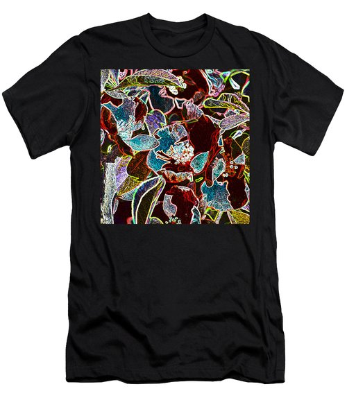 Japanese Quince In Abstract Men's T-Shirt (Athletic Fit)