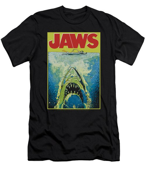 Jaws - Bright Jaws Men's T-Shirt (Athletic Fit)