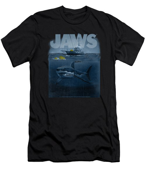 Jaws - Silhouette Men's T-Shirt (Athletic Fit)