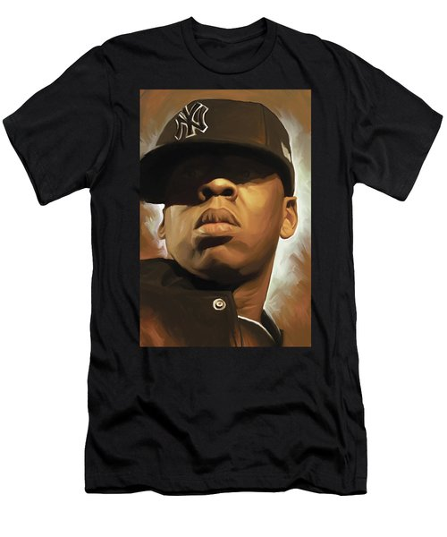 Jay-z Artwork Men's T-Shirt (Slim Fit) by Sheraz A