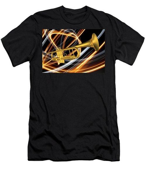 Jazz Art Trumpet Men's T-Shirt (Athletic Fit)