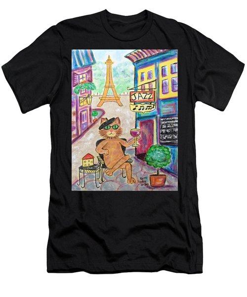 Jazz Cat Men's T-Shirt (Athletic Fit)