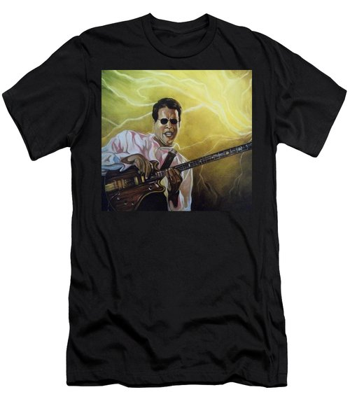 Men's T-Shirt (Slim Fit) featuring the painting Jazz by Emery Franklin