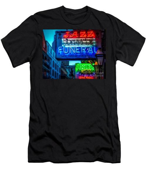 Jazz Funeral And Jester On Bourbon St. Men's T-Shirt (Athletic Fit)