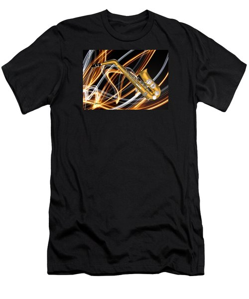 Jazz Saxaphone  Men's T-Shirt (Slim Fit) by Louis Ferreira