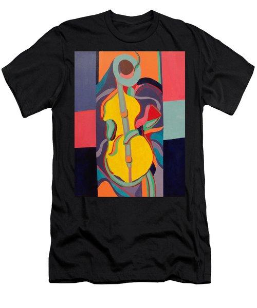 Jazzamatazz Cello Men's T-Shirt (Slim Fit) by Angelo Thomas