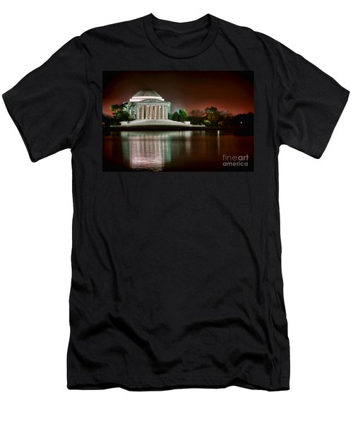 Jefferson Memorial At Night Men's T-Shirt (Athletic Fit)