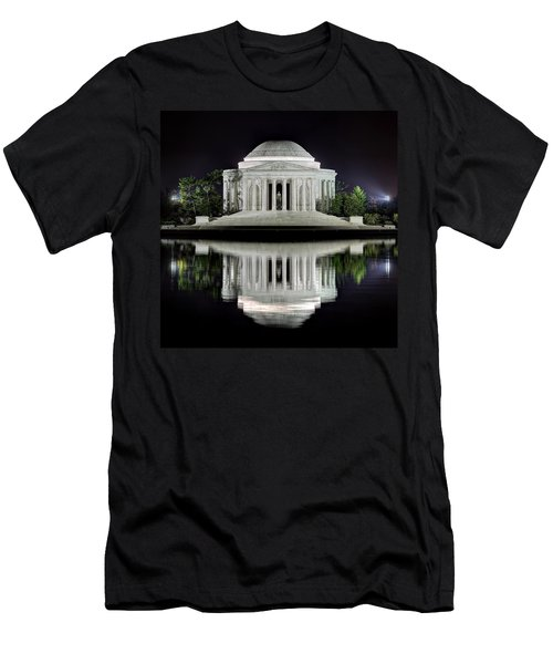 Jefferson Memorial - Night Reflection Men's T-Shirt (Athletic Fit)