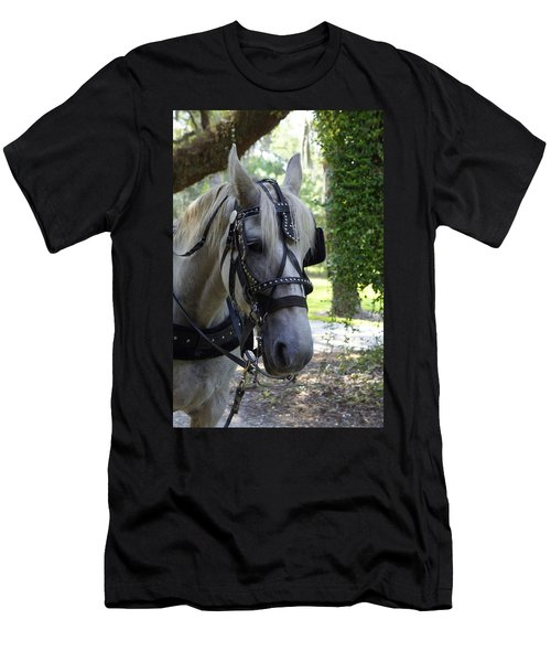 Jekyll Horse Men's T-Shirt (Slim Fit) by Laurie Perry