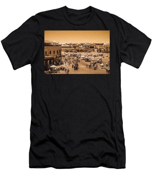 Jemaa El Fna Market In Marrakech At Noon Men's T-Shirt (Athletic Fit)