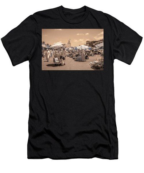 Jemaa El Fna Market In Marrakech Men's T-Shirt (Athletic Fit)