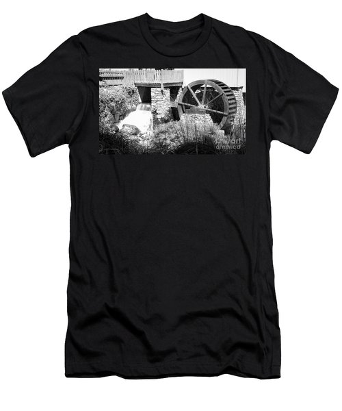 Jenney Mill In Black And White Men's T-Shirt (Athletic Fit)